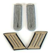 A pair of German WW2 Army Transport/Supply shoulder boards and collar tabs
