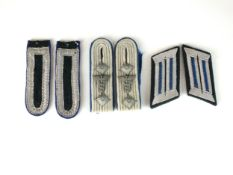 Third Reich German Army TSD shoulder boards and collar tabs