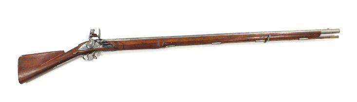 A reproduction Brown Bess flintlock musket