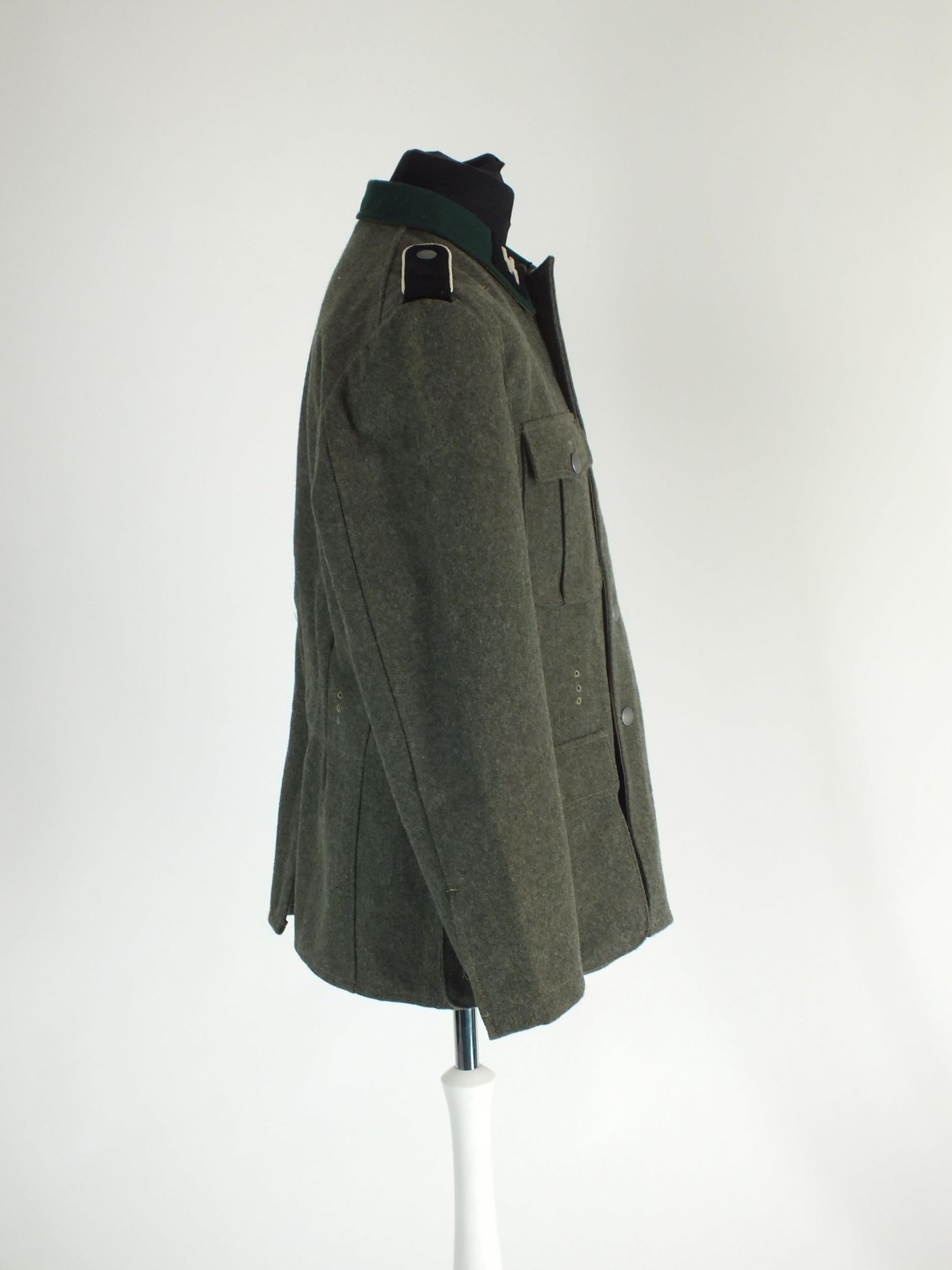 A good re-enactor or film set prop uniform for a German SS Polizei Division Mann, the tunic with - Image 3 of 5
