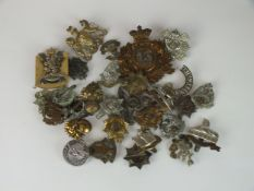 """A collection of 30 assorted army badges to include """"13th Regiment of Foot"""", Worcestershire etc"""