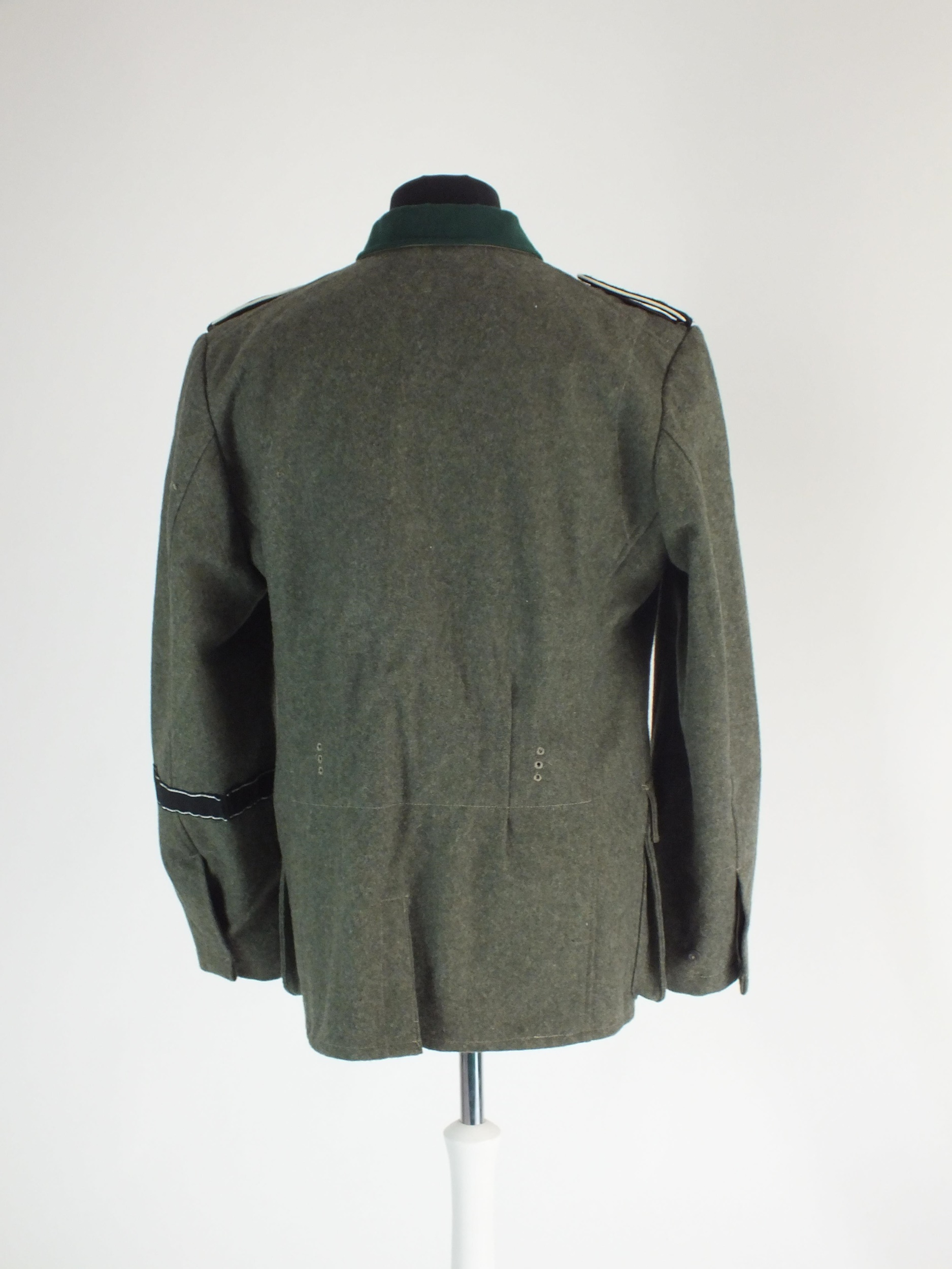 A good re-enactor or film set prop uniform for a German SS Polizei Division Mann, the tunic with - Image 4 of 5