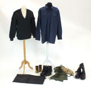 Gore-tex boots, Rogers riding boots, trench art shell, modern surplus uniform