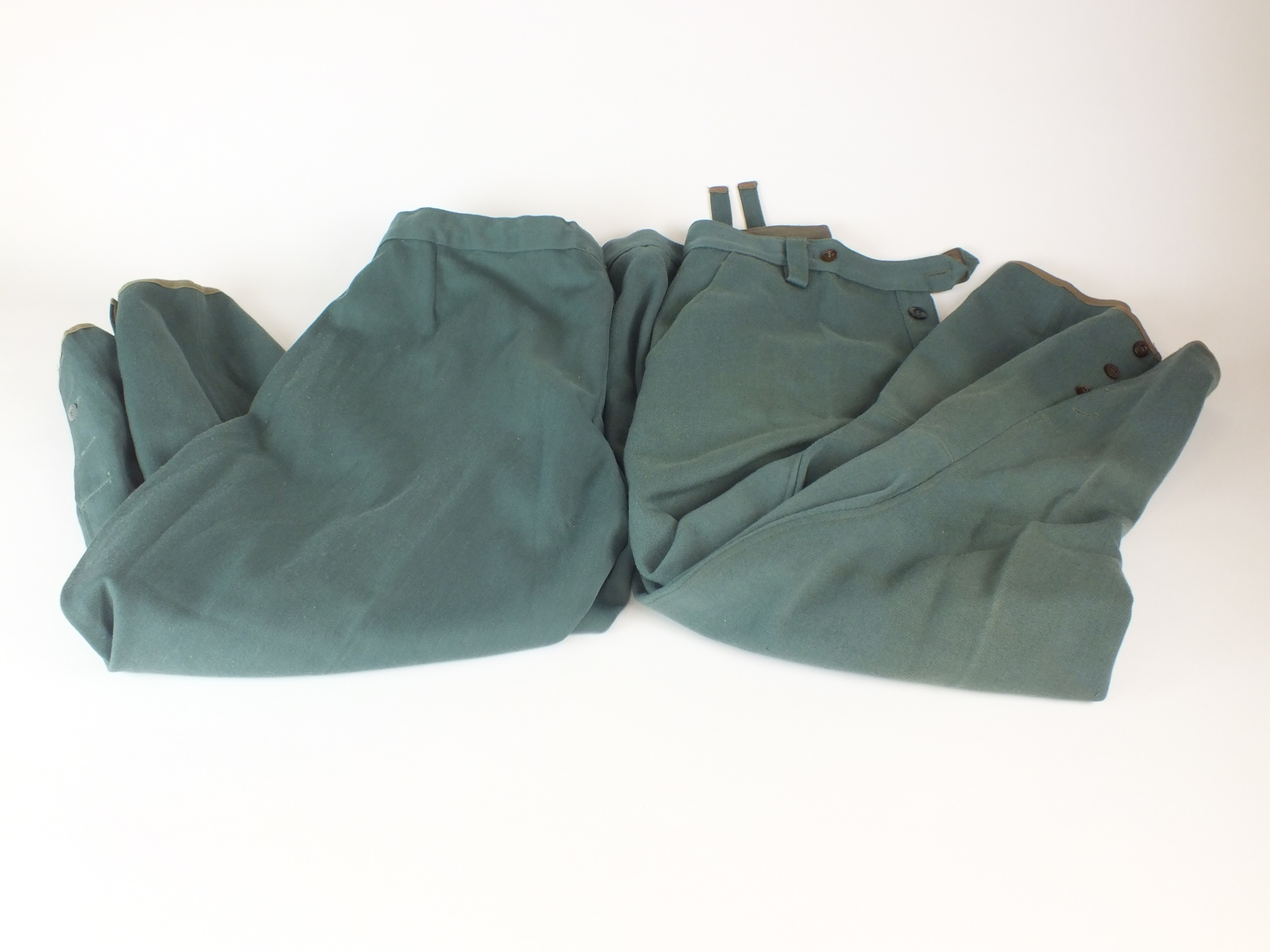 Two pairs of German Police breeches