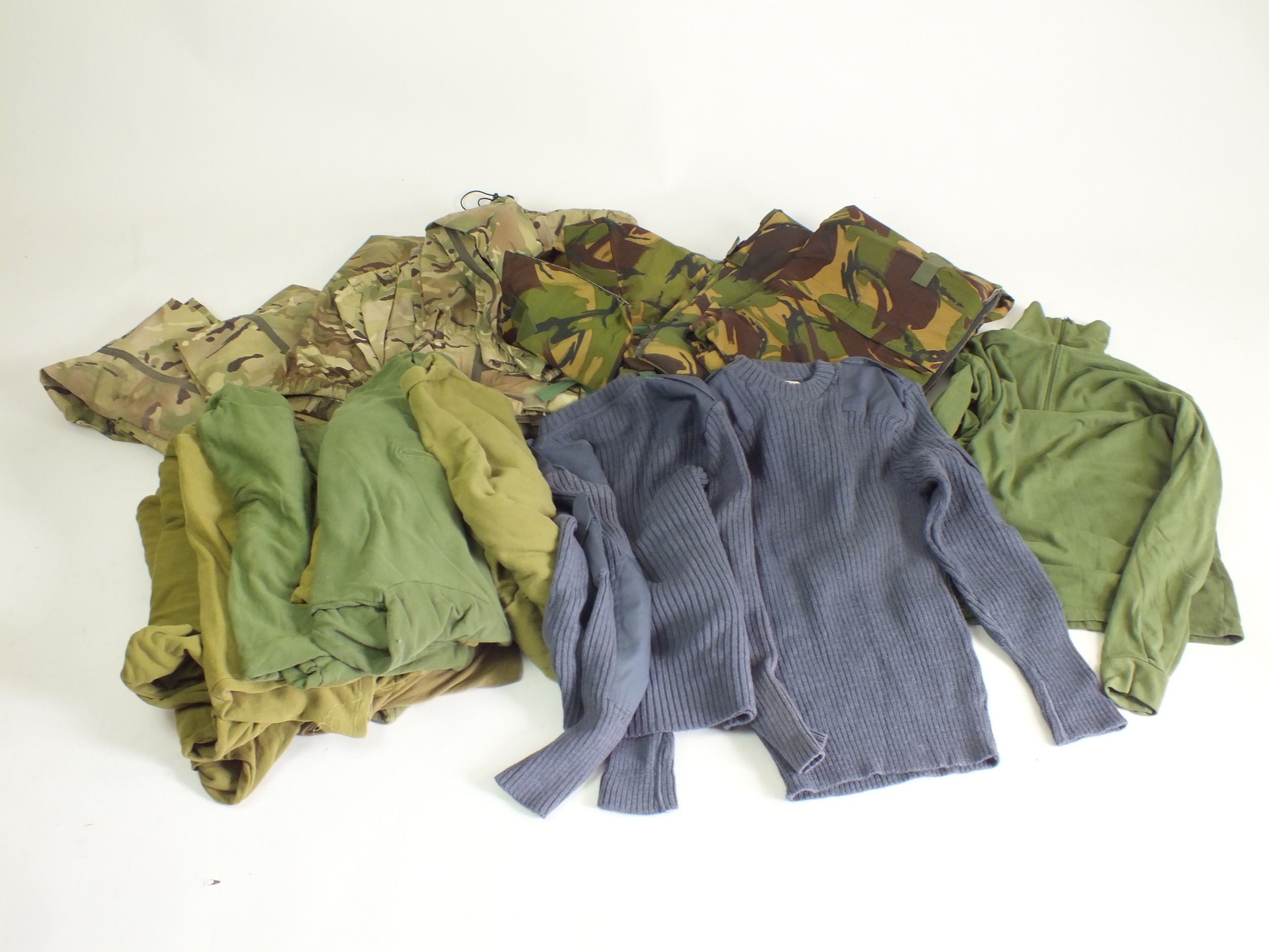 Mixed lots of surplus including RAF jumpers, cold weather shirts, waterproof trousers - Image 2 of 2