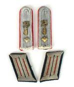 German Artillery Officer's collar tabs and shoulder boards