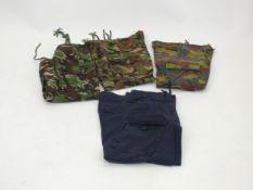 Royal Naval, British Army and Belgian Army combat pants, various sizes