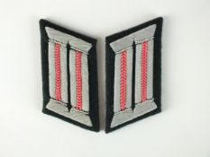 A pair of WW2 German Army Panzer Officer's collar tabs