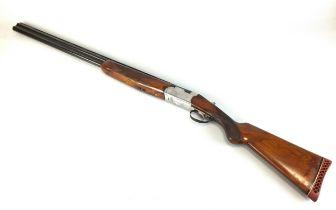 A Webley and Scott 12 bore double barrel shotgun, over and under