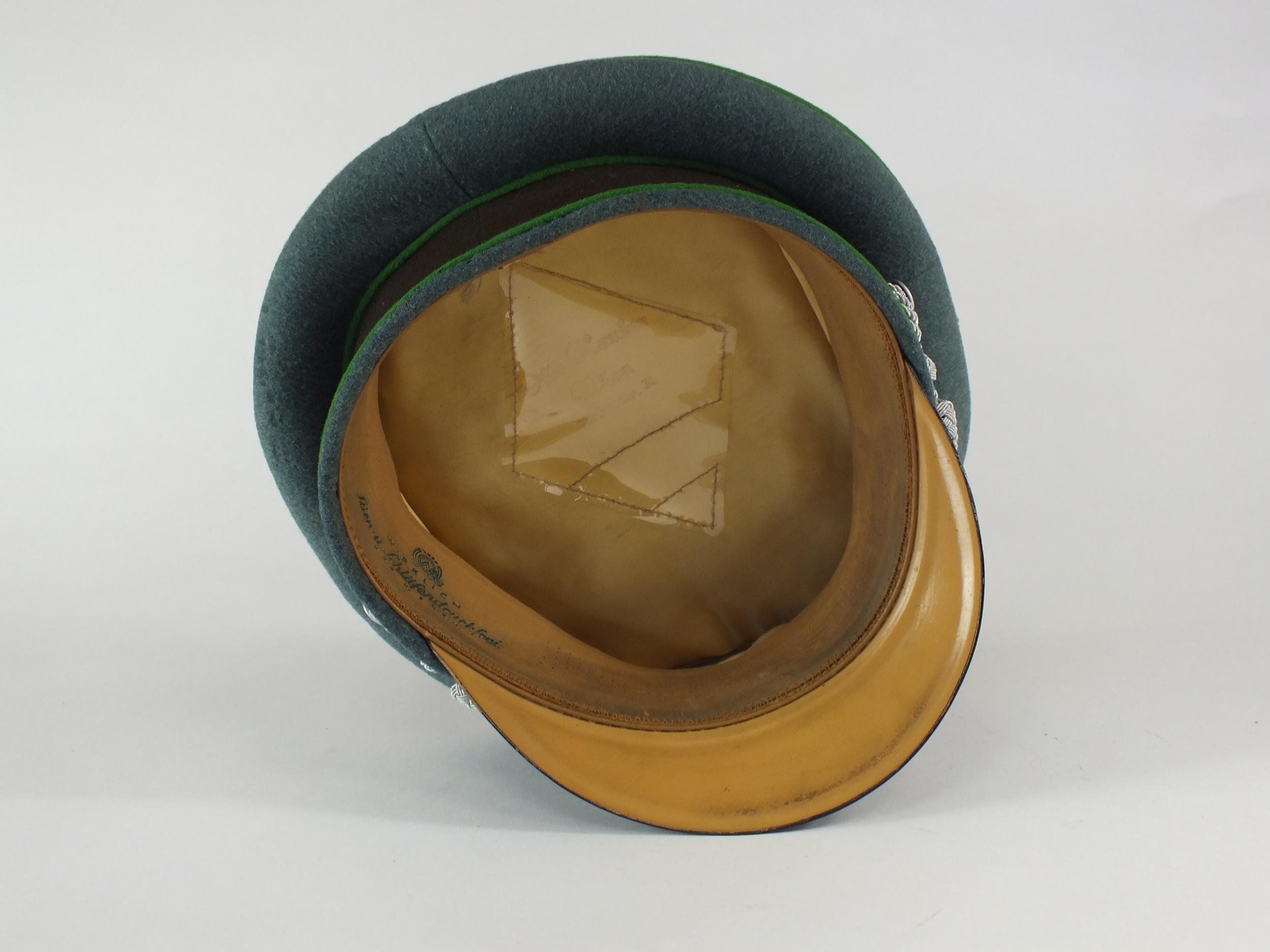 A German Third Reich Schutzpolizei (Protection Police) Officer's visor cap - Image 7 of 7