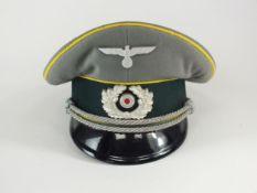 A German Second World War Heer (Army) Signal Officer's visor cap