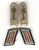 German Artillery Officer's shoulder boards and collar tabs