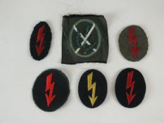 German Proficiency patches and a post-war Ski Jager patch