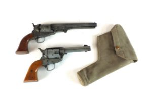 An MGO Manufactory blank-firing revolver, .44-40 long together with a replica pre-1870 style