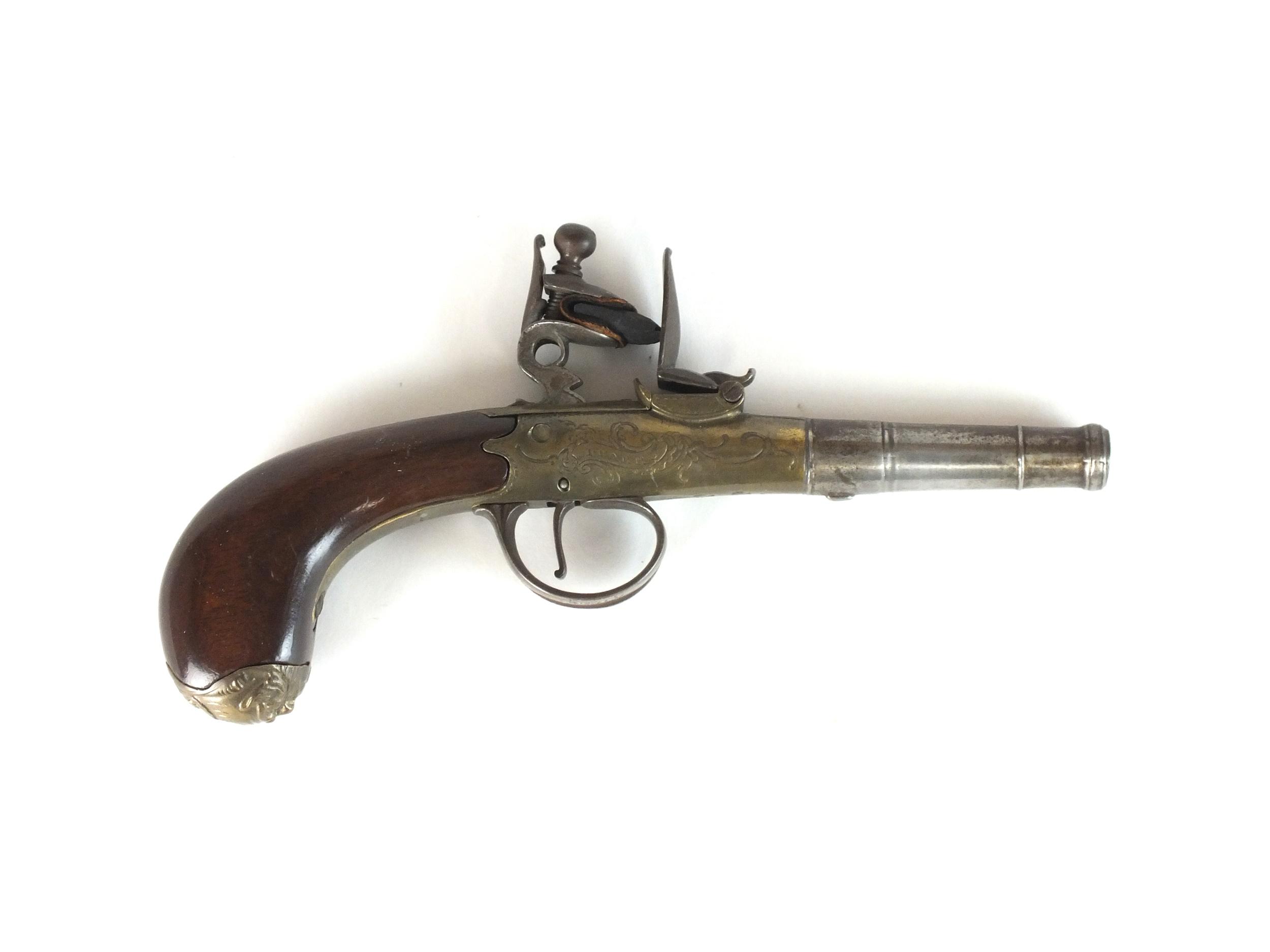 An English flintlock 'Queen Anne' pistol