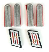 Two pairs of German Third Reich Artillery Lieutenant's shoulder boards together with two pairs of