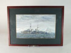 HMS Scylla watercolour