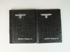 Two German Third Reich unused photograph albums for the 69th and 44th Infantry Regiments