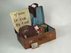 A collection of WW2 items owned by Hon. Lt. Col H. A. Loe.