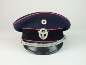 German Third Reich Fire Offical's visor cap