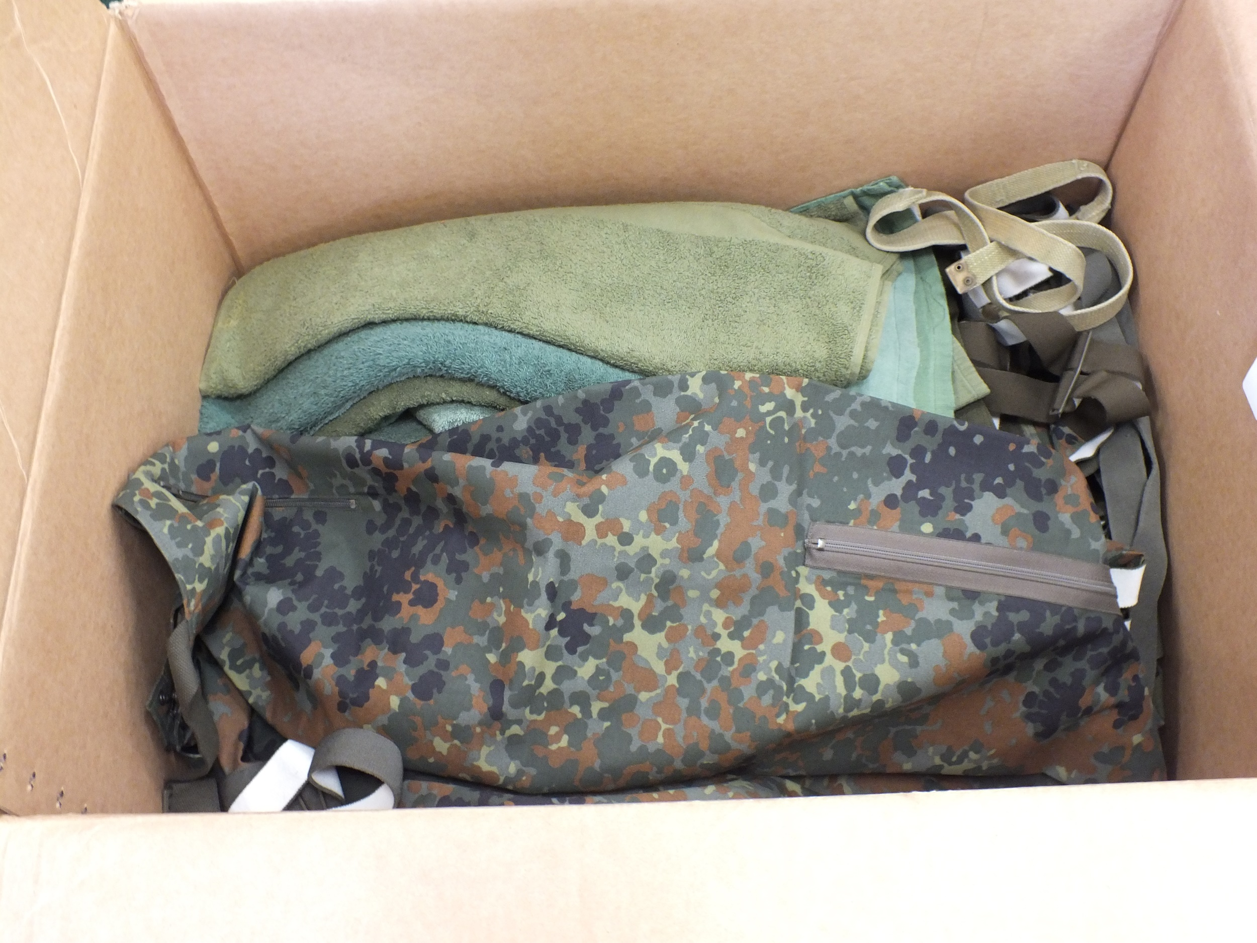 A collection including three military sleeping bags, military hand towels, numerous pairs of - Image 2 of 2