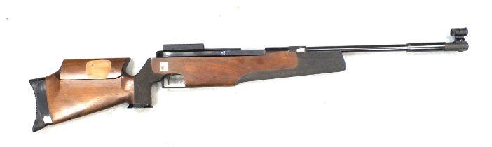 A Feinwerkbau 300SU .177 ten metre target air rifle, semi-recoilless design with a spare front