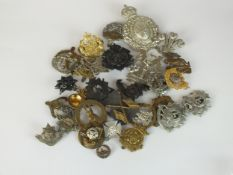 A collection of 30 assorted army and other badges including a Scottish VB helmet plate, Princess