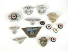 A group of German Third Reich insignia