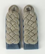 A pair of Third Reich German Army Major's Transport Section shoulder boards with knotted rank