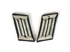 A pair of German Third Reich Heer TSD (military automobile service) officer's collar tabs with