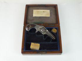 A rare Remington-Smoot #1 New Model .30 rimfire short calibre revolver circa 1870s the early type