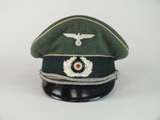 A German Third Reich Infantry Officer's peaked visor cap