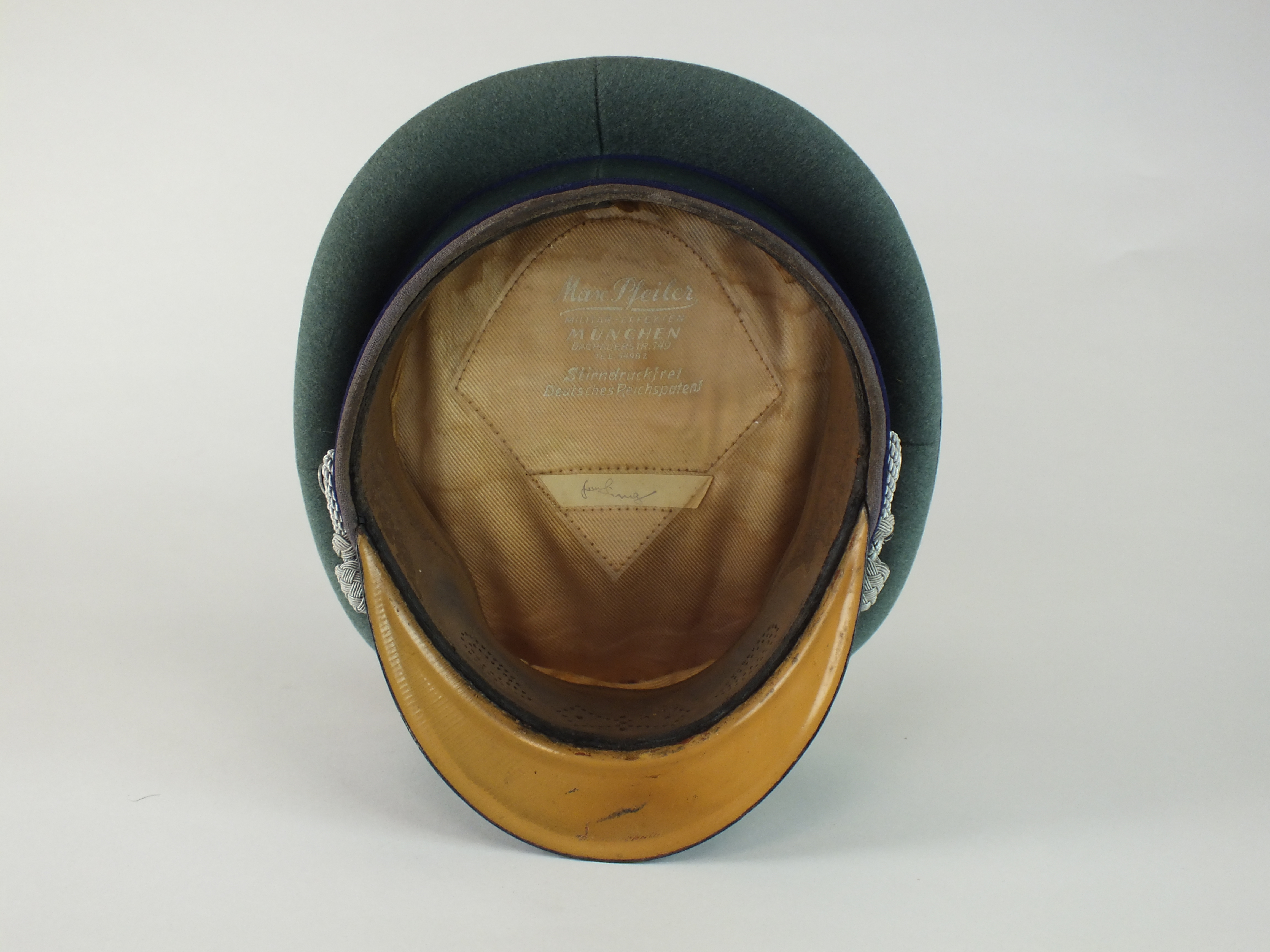 German Third Reich Army Medical Officer's visor - Image 2 of 5