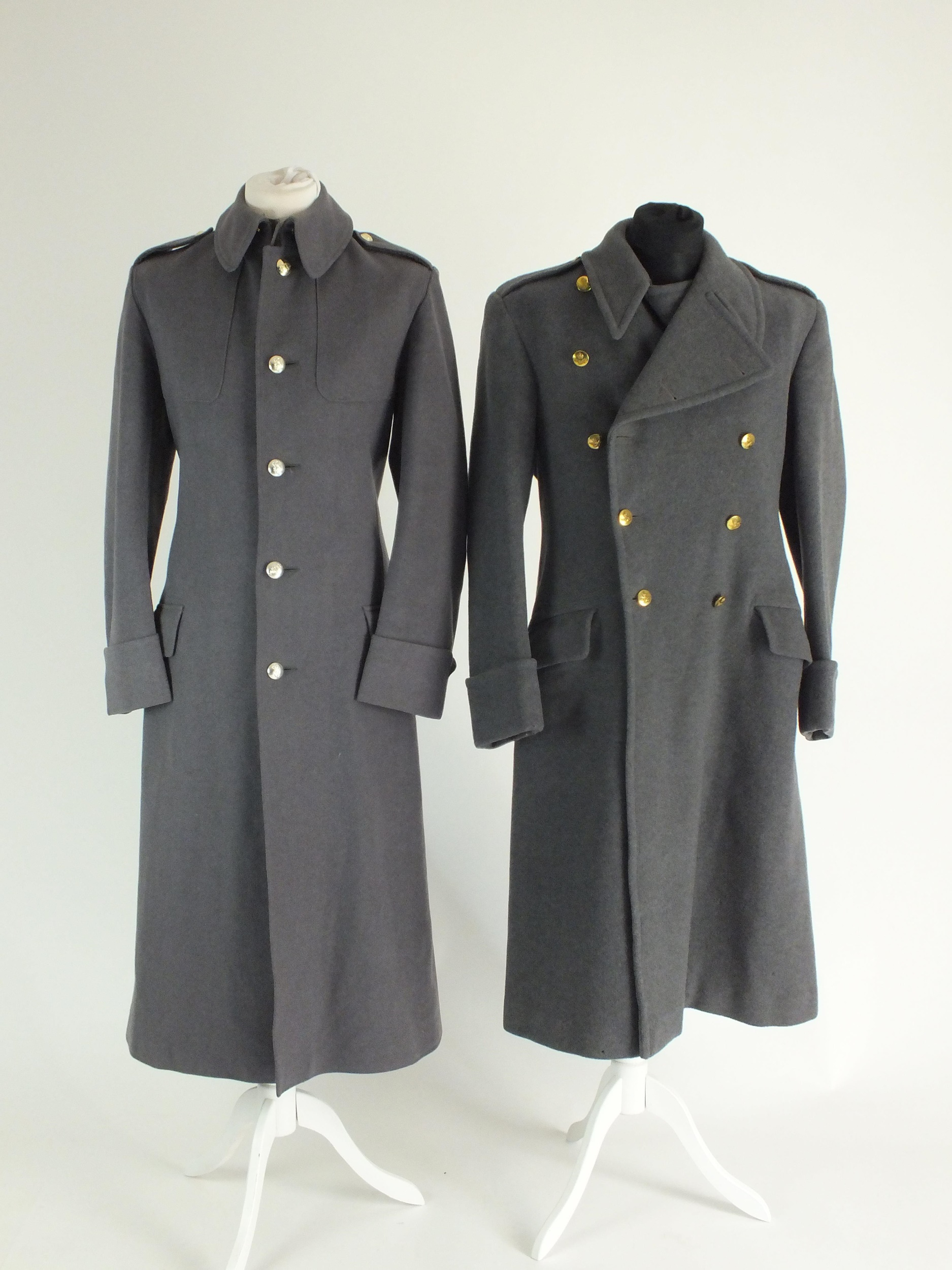 British Army and RAF greatcoats