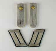 Set of German Infantry Officer collar tabs and shoulder boards