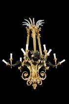 Figürlicher Bronzelüster