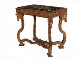 Barock-Tisch mit Scaglioladeckplatte