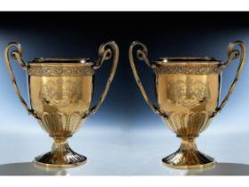 Paar Georges III-Flaschenkühler