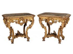 Paar Louis XV-Konsoltische