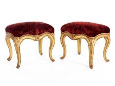 Paar Louis XV-Tabourets