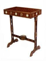 Louis XVI-Handarbeitstisch mit Wedgwood-Intarsien