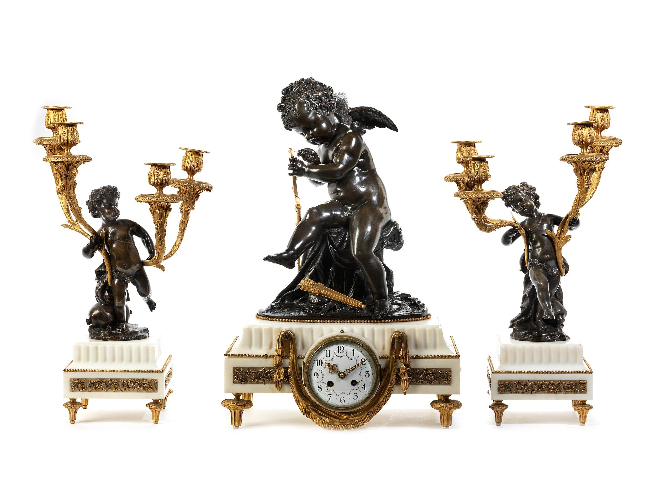 Louis XVI-Kaminuhrgarnitur