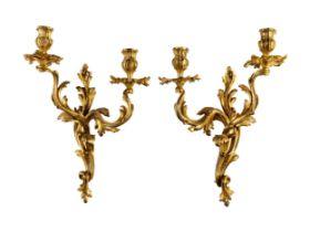 Paar Louis XV-Appliken