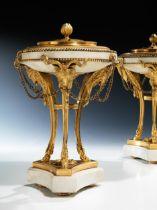 Paar Louis XVI-Potpourri-Deckelvasen