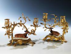 Paar Louis XV-Tischleuchter