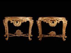 Venezianisches Paar Louis XV-Konsolen
