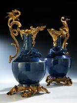 Ein Paar chinesische Vasen mit Ormolu-Montierung