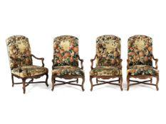 Folge von vier Régence-Stühlen