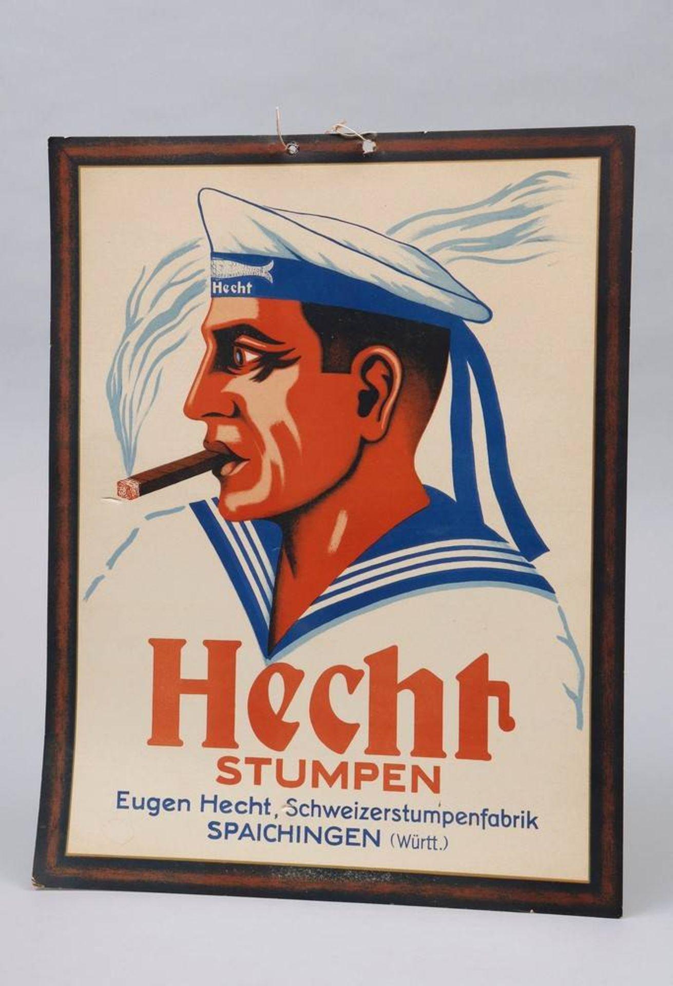 Zigarrenwerbung, Eugen Hecht, Spaichingen, 1. Hälfte 20.Jh.
