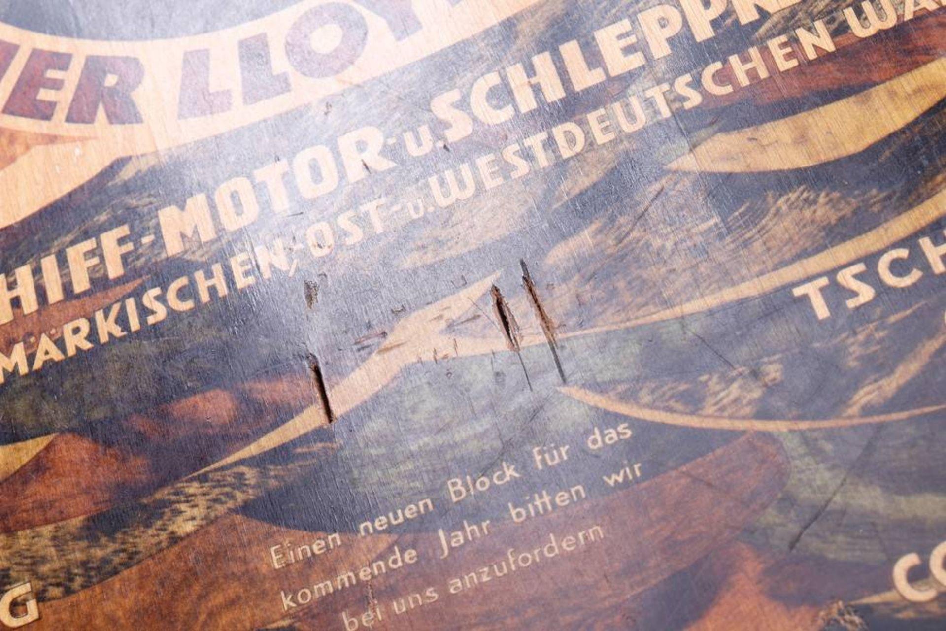 """Kalender-Werbetafel, """"Schlesischer Dampfer-Co-Berliner Lloyd Akt-Gez"""", um 1920/ - Bild 3 aus 3"""